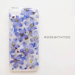 【再販】押し花iPhoneケース 0716_3 delphinium
