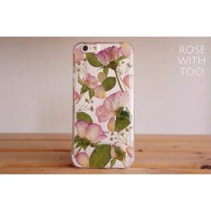 iPhone6/6s用 フラワーアートケース 押し花デザイン 0811_12
