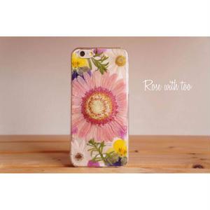 iPhone6/6s用 フラワーアートケース 押し花デザイン 0715_9