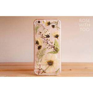 iPhone6/6s用 フラワーアートケース 押し花デザイン 0828_9