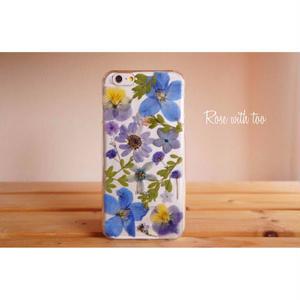 iPhone6/6s用 フラワーアートケース 押し花デザイン 0715_5
