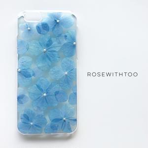 押し花iPhoneケース 0806_1 blue