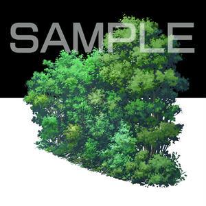 素材_遠景の木々02
