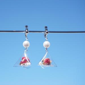Rose Pearl Earring (ピアス/チタンピアス変更可)