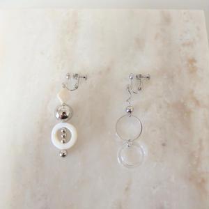 Asymmetry Silver Earring  (ピアス/チタンピアス変更可)