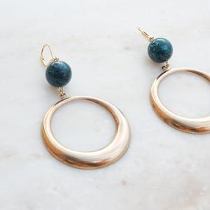 Brass Ring  Pierce -Green- (イヤリング/チタンピアス変更可)