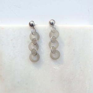Frosted Glass Chain Pierce  -Gray-