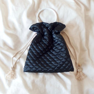 Quilting Purse Bag    Black -受注生産-