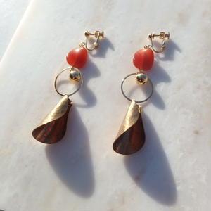 Orange Brass Earring (ピアス/チタンピアス変更可)