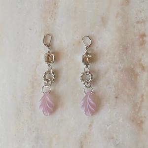 Vintage Pink Flower Pierce (イヤリング/チタンピアス変更可)