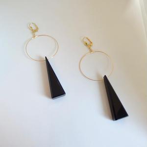 Black Triangle Pierce(イヤリング/チタンピアス変更可能)
