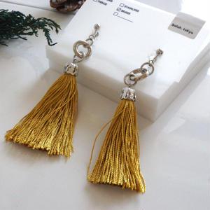 Yellow Tassel Earring (ピアス/チタンピアス変更可)