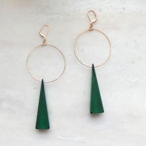 Green Triangle Pierce(イヤリング/チタンピアス変更可能)