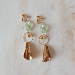 L.Green  Brass Earring (ピアス/チタンピアス変更可)