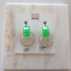 PVC Drop Pierce -Green- (イヤリング変更可)
