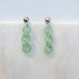 Glass Chain Pierce  -Light Green-