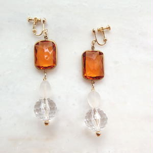 Yellow Clear Earring (ピアス/チタンピアス変更可能)