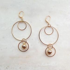 Gold Ring Pierce (イヤリング/チタンピアス変更可能)