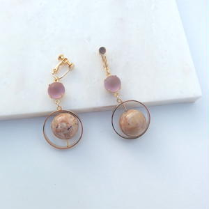 Pink Shine Earring (ピアス/チタンピアス変更可能)