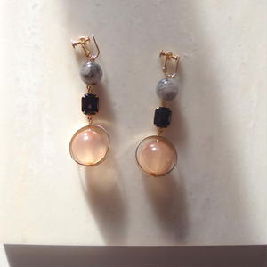 Marble Swing Earring (ピアス/チタンピアス変更可能)