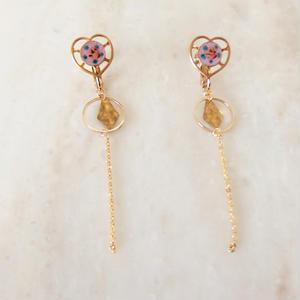 Heart Chain Earring