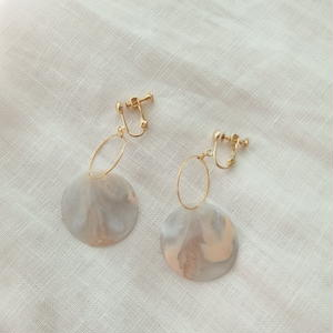 Marble Ring Earring (ピアス/チタンピアス変更可能)