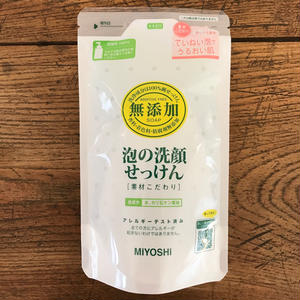 MIYOSHI|無添加 泡の洗顔せっけん 詰替 180ml/102039