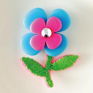 オハナピアス(ブルー×ピンク)