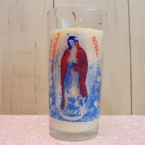 聖母マリアキャンドル(擦れプリント)