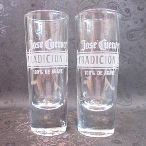 Tequila Long Shot Glass ~Jose Cuervo TRADICIONAL~(2個セット)
