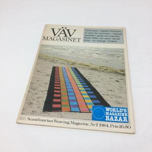 【古本】B060 VÄV MAGASINET  Scandinavian Weaving Magazine.   1984/2