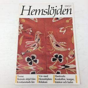 【古本】B194   Hemslöjden Magazine  1985/1