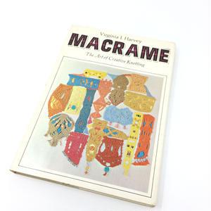 【古本】B026  MACRAME The Art of Creative Knotting /Virginia I. Harvey マクラメ編み バージニア・I・ハーベイ