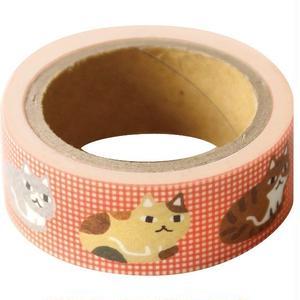 QMT22 そえぶみ箋 ますきんぐテープ じっと見ネコ