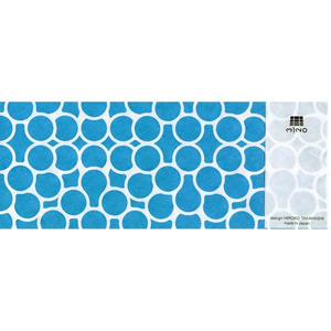 MINOK67 Printed envelope M Aqua Green