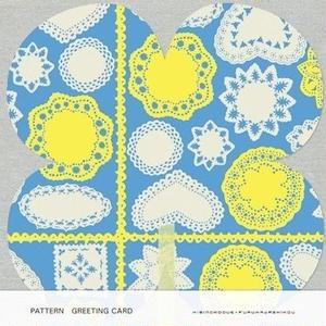 POL067  PATTERN GREETING CARD レース