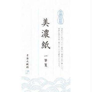 LI153 美濃紙 一筆箋 青海波模様 純白