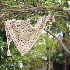 【受付中】ワークショップ@yamagiwa金沢(5/20、6/10)「かぎ針で編む三角ショール」お申し込み