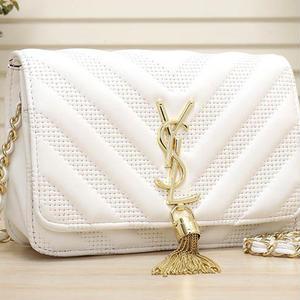 人気新品♥ Yves Saint Laurent  ショルダーバッグ  フリンジ レディース  イヴ・サンローランフリンジバッグ  チェーン鞄