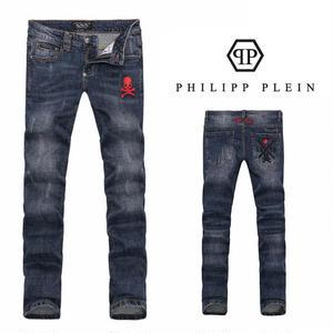 フィリッププレイン PHILIPP PLEINデニムパンツ ジーンズ  メンズ  刺繍ドクロパンツ