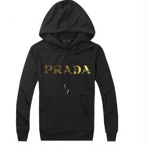 ★PRADA プラダ パーカー スウエット 長袖トレーナー 男女兼用 ジップパーカー フード付きTシャツ カップル