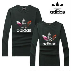 人気新品 アディダス Tシャツ  カラフルロゴ 長袖 ロンT   メンズ レディース