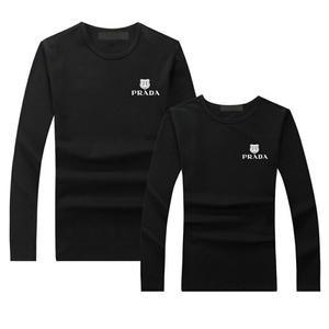 人気 プラダ PRADA Tシャツ  長袖 ロンT ロゴTシャツ  メンズ レディース  綿