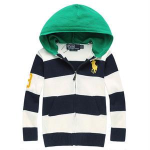 人気ポロ・ラルフローレン POLO RALPH LAUREN ボーダーニット セーターパーカー ブルゾン長袖 刺繍 アウタージャケット  メンズ レディース