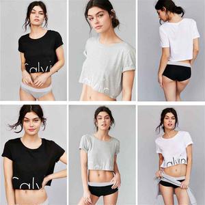 新入荷★カルバンクライン Calvin Klein CK人気ショット丈Tシャツ 半袖 腹出しTシャツ スウェット