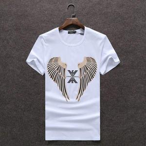 人気アルマーニ エンポリオ  Emporio Armani Tシャツ 翼プリント Tシャツ 半袖 丸首 メンズ
