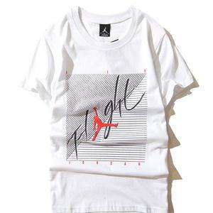 2017年夏新作★ナイキ/NIKE ジョーダン Jordan プリントTシャツ 黒×白 無地 半袖テイーシャツ 男女兼可 カップル