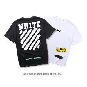 人気2色選! オフホワイトTシャツ 半袖 アウター 男女兼用