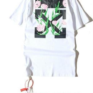 男女兼用※人気オフホワイト/Off-White Tシャツ 半袖 アウター