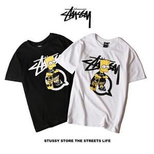 人気新品 ステューシーキャラクターTシャツ 半袖  STUSSY 男女兼用